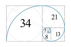 Taux d'or Nombre de Fibonacci illustration libre de droits