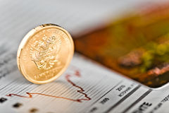 Taux de change de rouble Photo stock