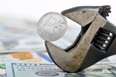 Taux de change du dollar de rouble photos stock