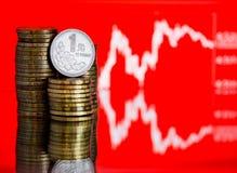 Taux des yuans chinois (DOF peu profond) Images libres de droits
