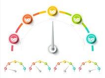 Taux ou mètre d'enquête de client dans la conception plate Service client reposé Image stock