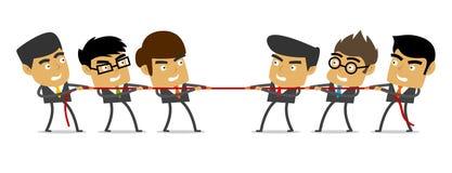 Tauziehen, Geschäft, Leute, Wettbewerb Stockbilder