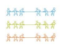 Tauziehenaufkleber und -symbol Stockbilder