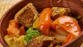 Azerbaijani dish Tava. Tava ety - Azerbaijani dish with lamb Royalty Free Stock Photography