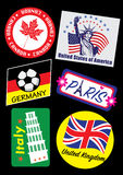 Tavel地标邮票集合 免版税图库摄影