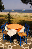 Tavern. Greek traditional tavern on Thassos island, Greece stock images