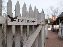 Tavern. Back gate to a tavern in Colonial Williamsburg, Virginia stock images