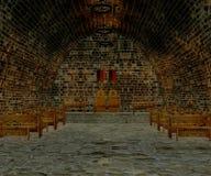 Tavern. 3d render of an medieval tavern royalty free illustration