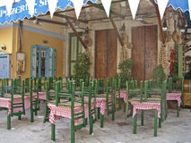 A tavern in a Greek island Royalty Free Stock Images