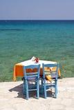 Tavern in Kokkari, Samos Stock Photos