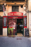 The Tavern. PALMA DE MALLORCA, BALEARIC ISLANDS, SPAIN - APRIL 13, 2016: The Tavern on Calle Apuntadores in the La Llotja area in Palma de Mallorca, Balearic Stock Photography