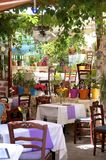 Tavern in Rethymno Royalty Free Stock Photo