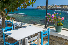 Tavern By The Sea in Greece Stock Images