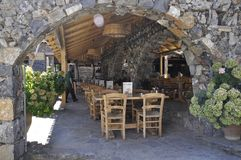 Psychro, august 29th: Cave of Zeus Way Tavern in Crete island of Greece. Tavern on the Way of Cave of Zeus in Crete island of Greece on August 2017 royalty free stock images