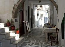Taverna在纳克索斯市,希腊 图库摄影
