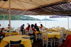Taverna,斯基亚索斯岛,希腊 免版税图库摄影