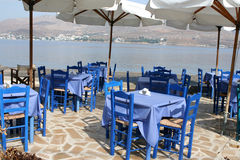 Taverna. Traditional greek sea taverna Leros island dodecanese greece stock images