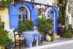 Taverna en Malia, Crete Imagen de archivo