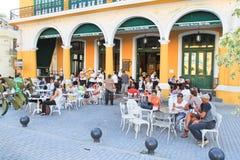 Taverna major tourist attraction in Havana. HAVANA - FEBRUARY 3: The taverna Muralla major tourist attraction  in Old Havana  declared by UNESCO World Heritage Stock Image