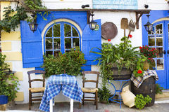 Taverna in Malia, Crete stock photos