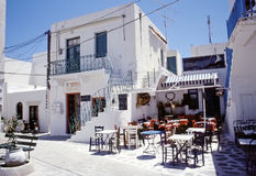 Taverna in Paros, Cyclades island Royalty Free Stock Photos