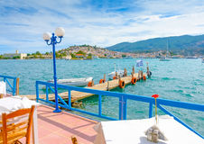 Taverna with Pier Royalty Free Stock Photo