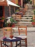Taverna, Plaka, Athene Stock Afbeeldingen
