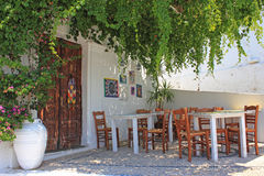 Taverna, Rhodes, Greece Stock Images