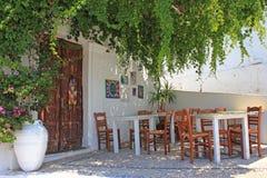 Taverna, Rodi, Grecia Immagini Stock
