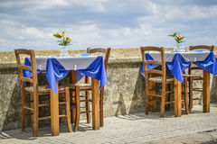 Taverna s table and chairs Royalty Free Stock Images
