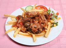 taverna stifado говядины греческое Стоковое Изображение