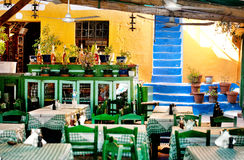 Taverna in Symi royalty free stock images