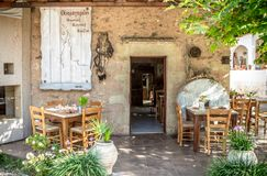 Greek taverna. Taverna - a typical Greek restaurant royalty free stock photography