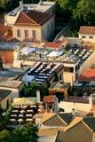 Tavernas à la colline de l'Acropole, Athènes Photo libre de droits