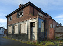 Taverne abandonnée Image stock