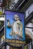 Taverne de Brodies de diacre à Edimbourg images libres de droits