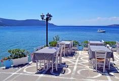 Taverne grecque traditionnelle chez Nea Styra Euboea Greece photographie stock libre de droits