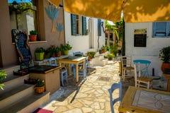 Taverne grecque traditionnelle sur Zakynthos photographie stock libre de droits
