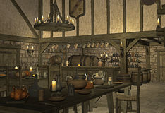 Taverne médiévale photos libres de droits