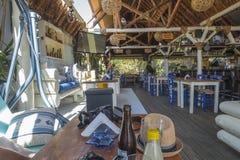 Taverne na plaży na Crete Obrazy Royalty Free