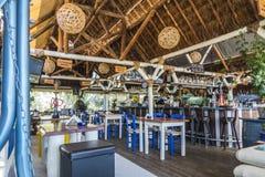 Taverne na plaży na Crete Obrazy Stock