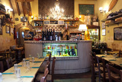 Taverne romaine de vin Photo stock
