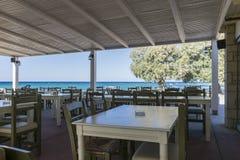 Taverne sur la plage Images libres de droits