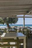 Taverne sur la plage Photographie stock