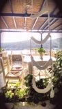 Taverne vide de Naoussa  photo stock