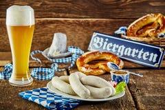Tavernenmahlzeit für das München Oktoberfest Stockfoto
