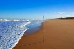 Tavernes de Valldigna beach dunes in Valencia Stock Image