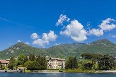 Tavernola na Como jeziorze, Włochy Zdjęcia Stock