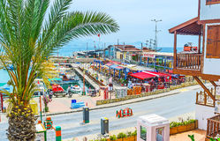 Taverns in Alanya port Stock Images