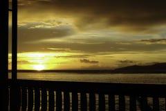 Taveuni - puesta del sol Foto de archivo